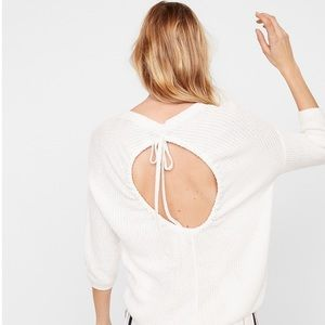 Open-back Express Sweater